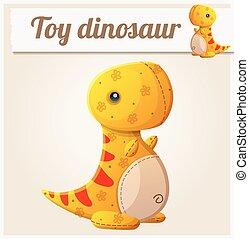 Toy dinosaur 6. Cartoon vector illustration