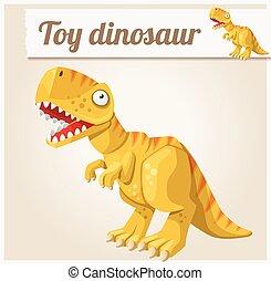 Toy dinosaur. Cartoon vector illustration. Series of childrens toys