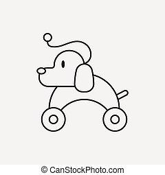 toy dog icon