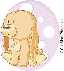 Toy Dog. Isolated on white. EPS 8, AI, JPEG