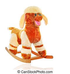 toy dog - plush dog isolated on white background, toy for...