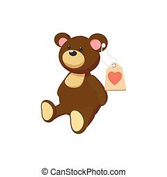 Toy donation Teddy-bear cartoon icon