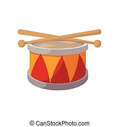 Toy drum cartoon icon