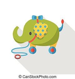 toy elephant flat icon