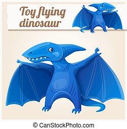 Toy flying dinosaur 7. Cartoon vector illustration