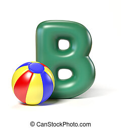 Toy font letter B