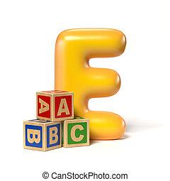 Toy font letter E