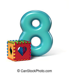 Toy font number 8