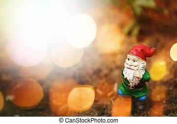 Toy Garden Gnome in Sun Light