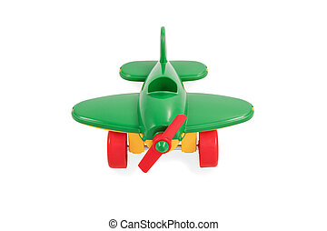 Toy green airplane