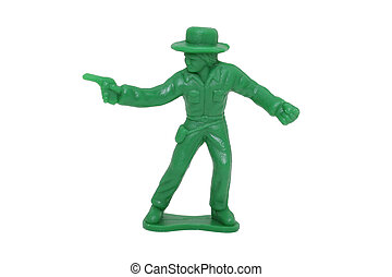 Toy Green Cowboy (8.2mp Image)