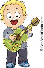 Toy Guitar Boy