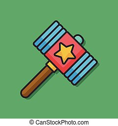 toy hammer vector icon