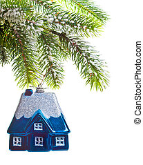 toy house on a New Year's tree - dream about own house