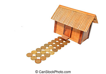 toy house on white background