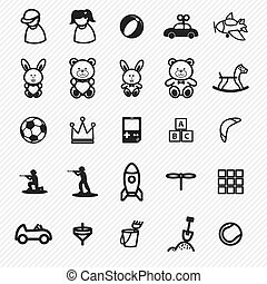 Toy icons set. illustration eps10