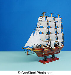 Toy model of sailing vessel (2)
