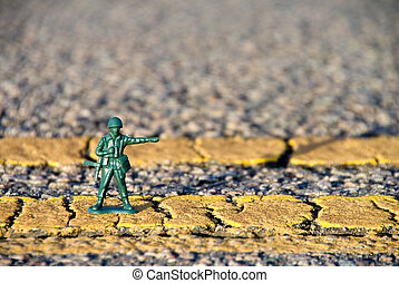 Toy MP Directing Traffic - Shallow DOF