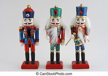 Toy Nutcracker Soldiers - Toy wooden nutcracker soldiers