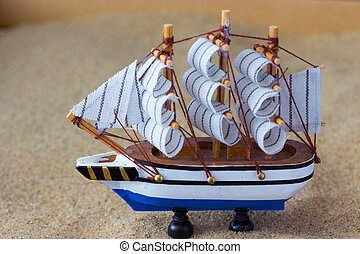 toy of a sailing ship