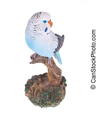Toy parrot on a white background