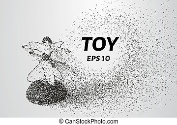 Toy particles. The toy consists of small circles and dots. Vector illustration.