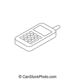 Toy phone icon, isometric 3d style