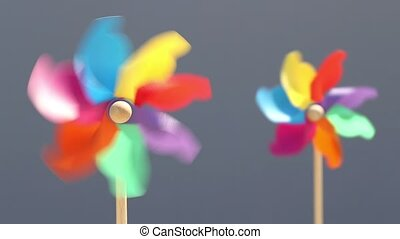 toy pinwheel in windy weather