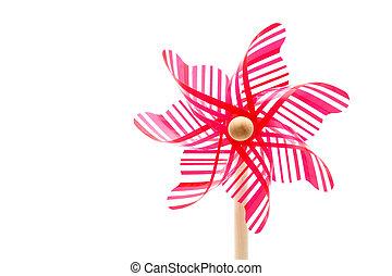 toy pinwheel - Colorful toy pinwheel on white background