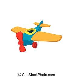 Toy plane cartoon icon