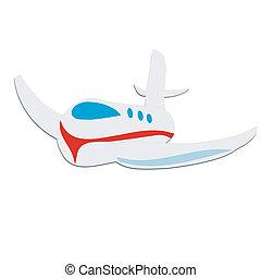 Toy plane, isolated on white background