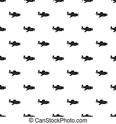 Toy plane pattern seamless in simple style  illustration