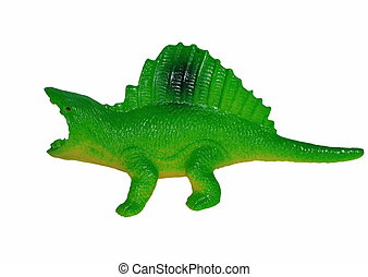 Toy plastic dinosaur isolated