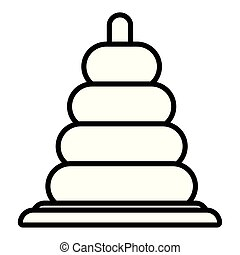 toy pyramid on white background