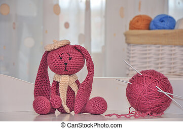toy rabbit knitted hook