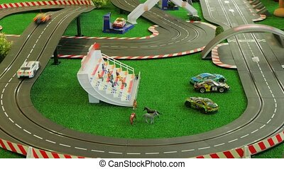 toy road Formula trophy - Formula trophy. cars go around the...