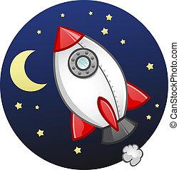 Toy Rocket Ship Cartoon - A fun plastic rocket ship toy made...