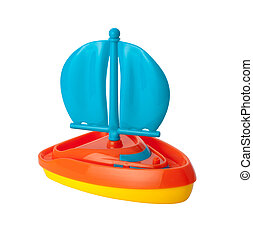 Toy Sailboat (clipping path)