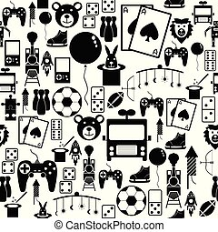 toy seamless pattern background icon.