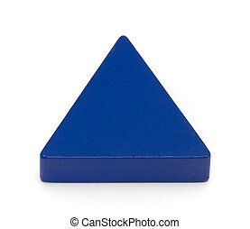 Toy shapes - Blue Triangle - Isolated shot of children\\\'s...