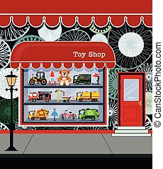 Toy Shop - Toy shop fronts along the city streets