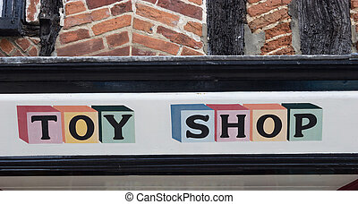 Toy Shop Sign - Colourful toy shop sign