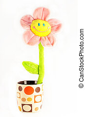 Toy smiling flower