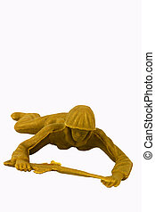 Toy Soldier Crawling