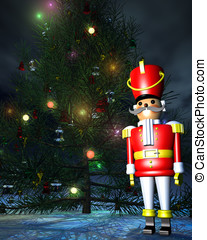 Toy Soldier Nutcracker - Painted wooden Toy Soldier...