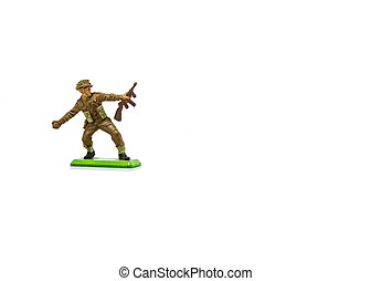Toy Soldier on White Blackground