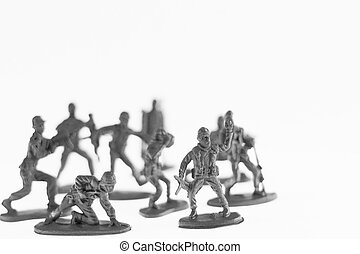 Toy soldier on white