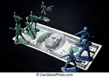 toy soldier standing with dollar