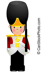 Toy Soldier with Clipping Path