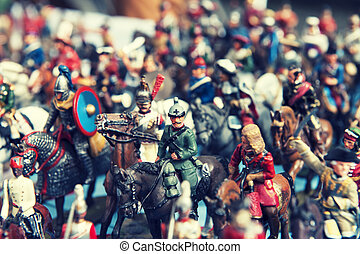 Toy soldier vintage - Vintage toy soldiers in the street...